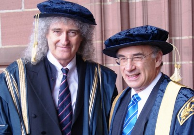 Sir Brian Leveson officially replaces Dr Brian May as he is installed as the new Chancellor of Liverpool John Moores University.